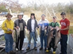 Winter fishing for Lake Texoma Blue Cats at its best