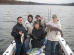 Winter fishing for Lake Texoma stripers