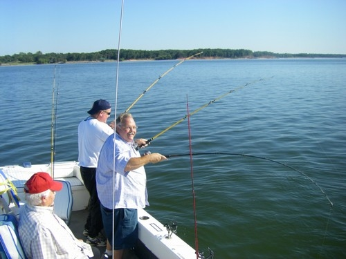 early fall striper fishing is fast and furious