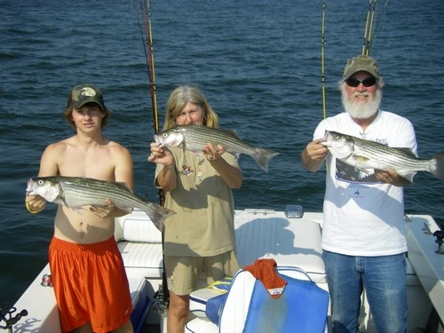 swimming and fishing for Lake Texoma stripers