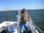 Giant stripers can be caught in winter months on Lake Texoma with Stripers Inc guide service