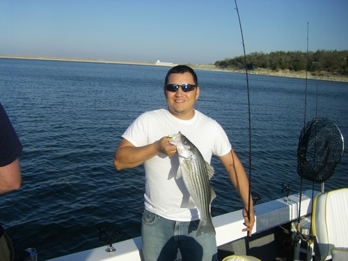 Striper caught on Lake Texoma with guide Brian Prichard