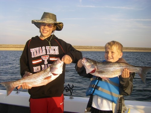 Stripers caught on Lake Texoma with Stripers Inc. guide Brian Prichard