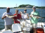 Stripers caught on Lake Texoma with guide Brian Prichard