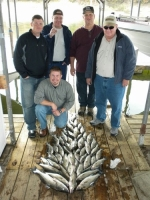 Stripers caught on Lake Texoma with striper guide Brian Prichard