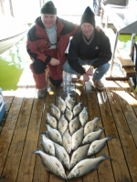 Stripers, catfish and a smallmouth caught on Lake Texoma with fishing guide Brian Prichard